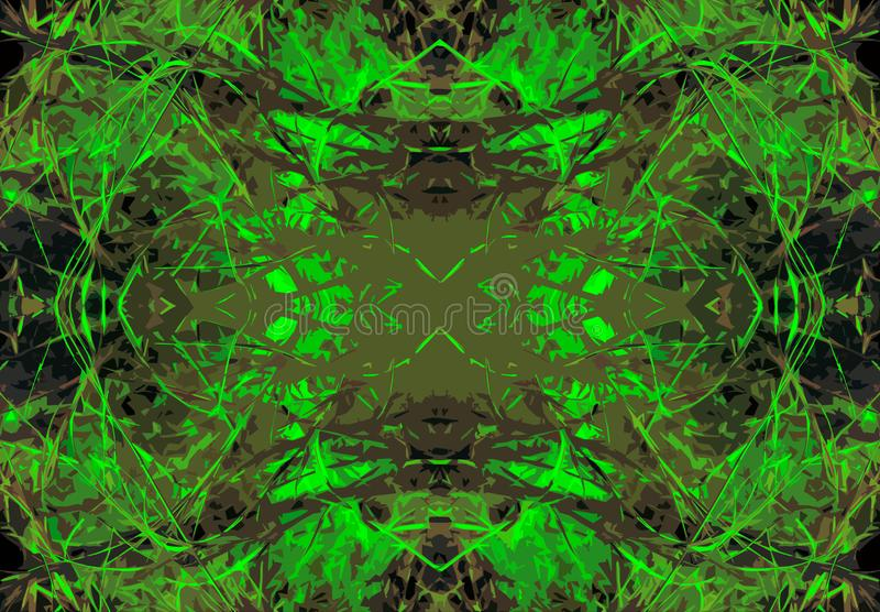 NEON GREEN PATTERN. View of an intricately detailed grey and green coloured decorative pattern royalty free stock photography