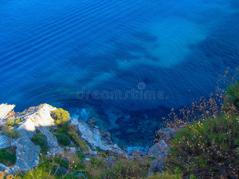 View of the Ionian Sea from the top of the hill royalty free stock photography