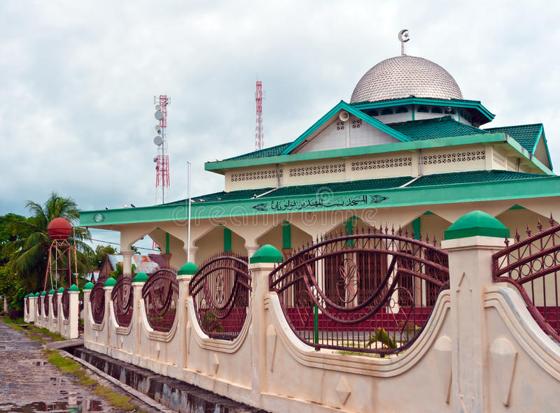 View Of Islamic Mosque On A Remote Tropical Island Royalty Free Stock Photography