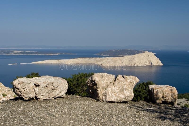 View at the island Goli otok royalty free stock photography
