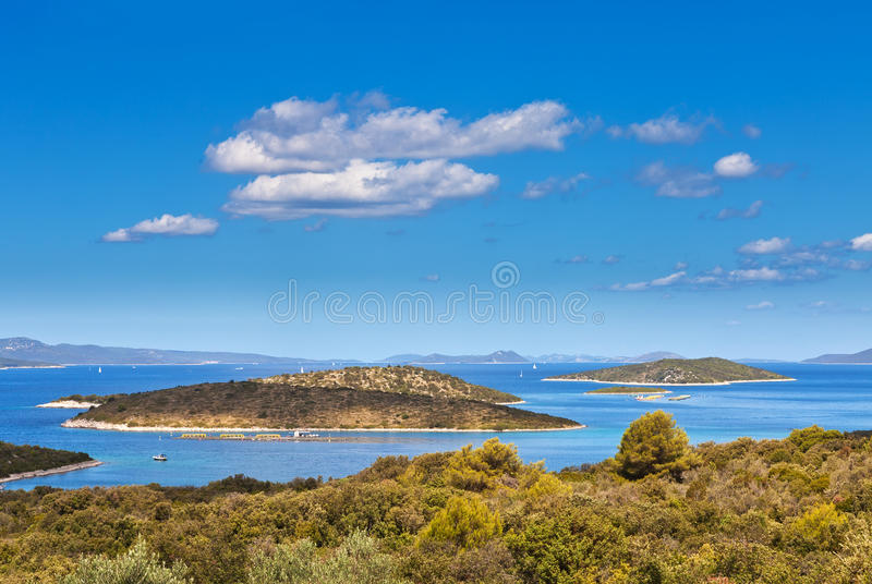 View From Island Iz At Island Dugi Otok Stock Photos