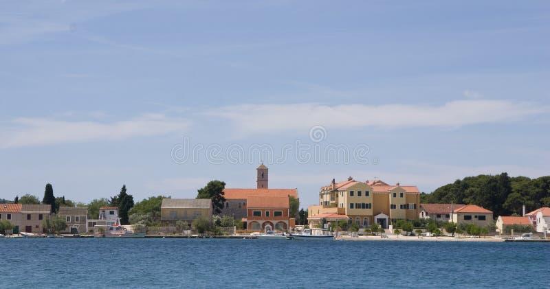 View at island Krapanj, Dalmatia stock photos