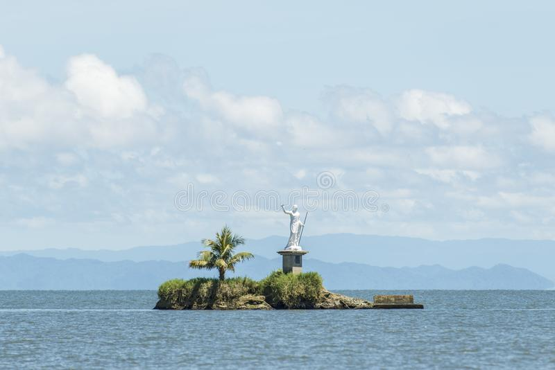 Islet in Caribian Sea from Livingston royalty free stock photography