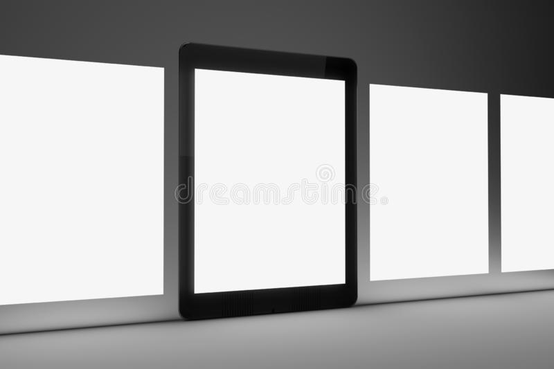 Isolated Devices Mockup. View of a Isolated Devices Mockup stock illustration
