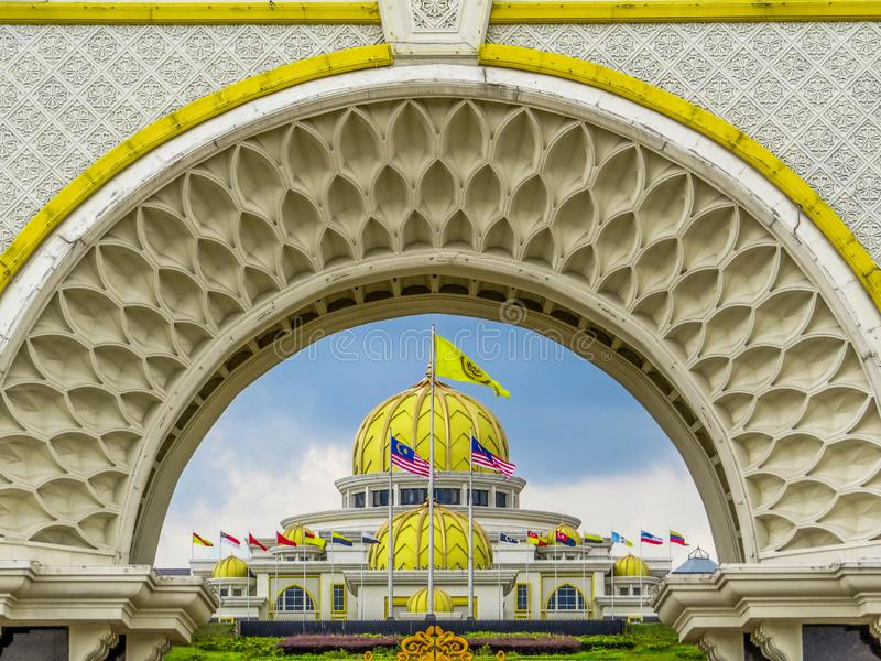 Istana Negara, Royal Palace, Kuala Lumpur, Malaysia royalty free stock image
