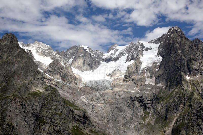 View on italian alps melting glaciers stock image