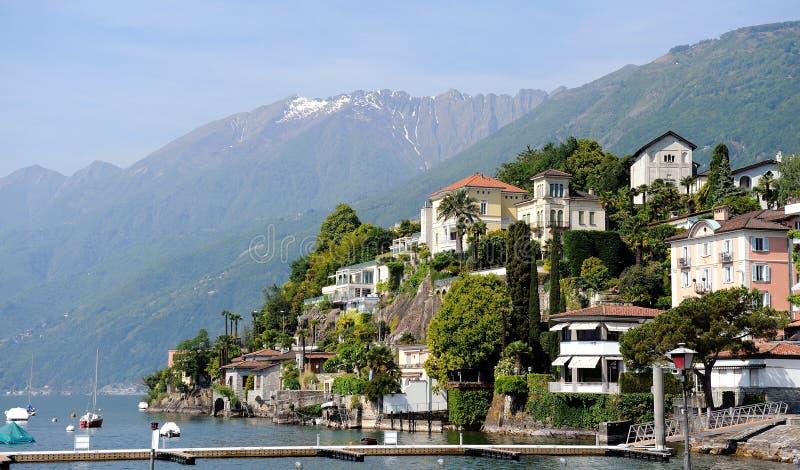 View of Italian city of Switzerland Ascona