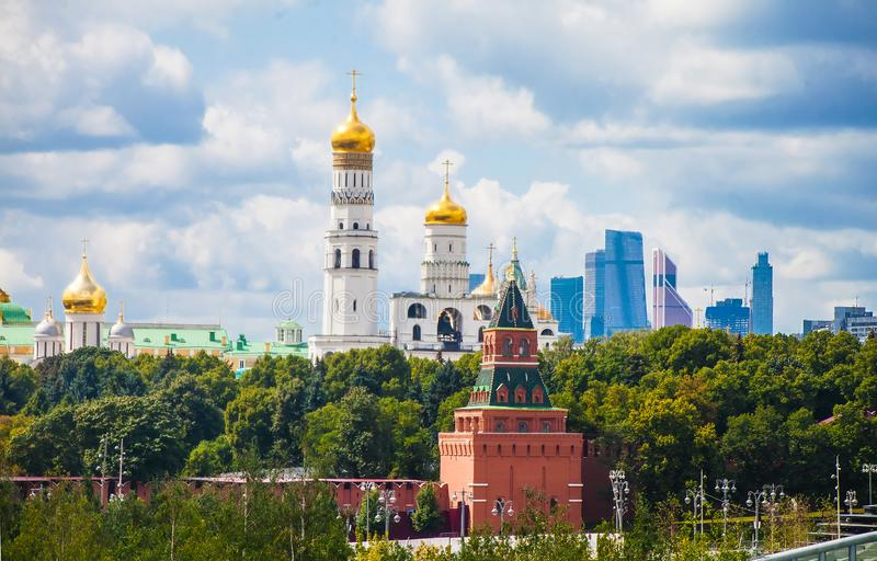 View on Ivan the Great Bell Tower stock photos