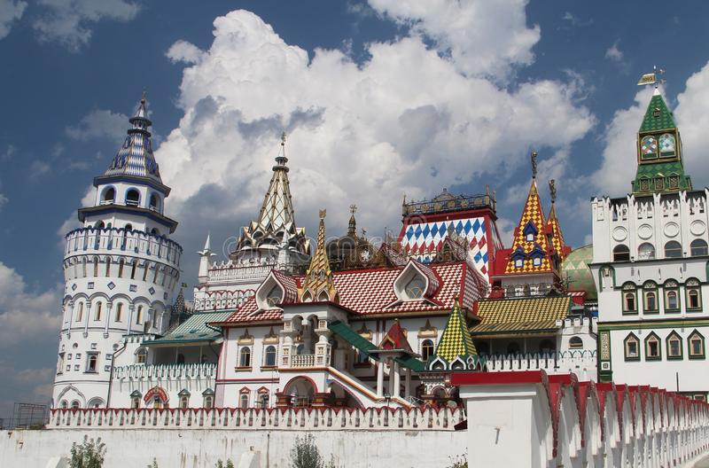 View of the Izmailovo Kremlin in Moscow, Russia royalty free stock photography