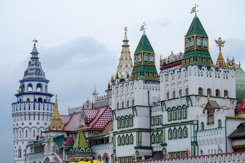 View of Izmailovsky Kremlin in Moscow, Russia royalty free stock photos