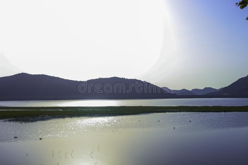 View from jal mahal jaipur royalty free stock photography
