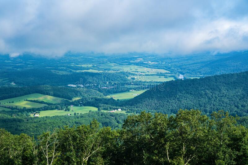 View of the James River in Shenandoah Valley and Fog royalty free stock photography