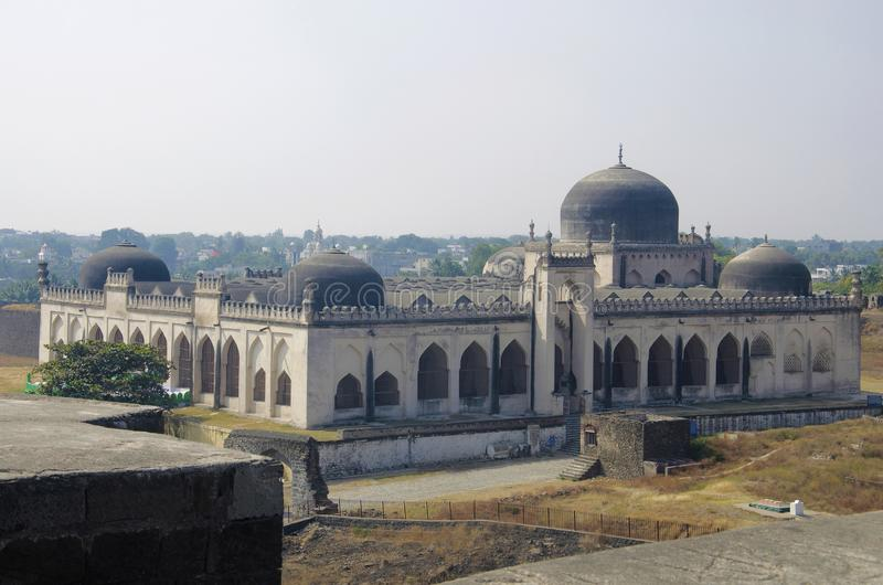 A view of Jamia Mosque situated in the Gulbarga fort, Gulbarga, Karnataka. India royalty free stock photography