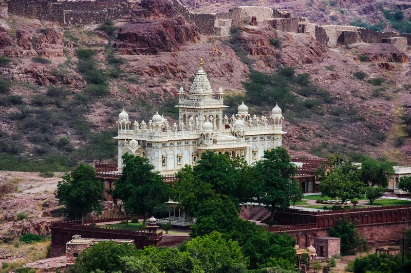 View of the Jaswant Thada from the fort of jodhpur stock image