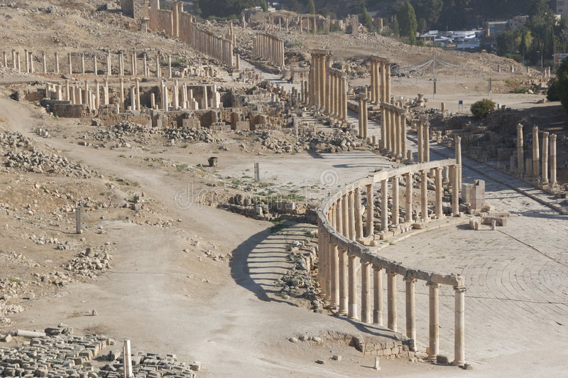 View on Jerash stock image