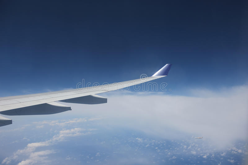 Download View Of Jet Plane Wing Royalty Free Stock Photography - Image: 14745377