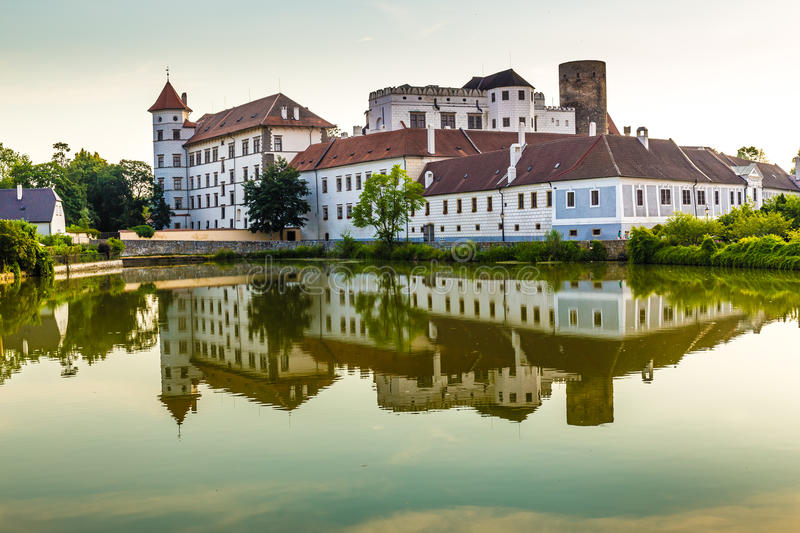 View of Jindrichuv Hradec Castle-Czech Republic. Beautiful View of Jindrichuv Hradec Castle with Reflection on The Water-South Bohemia, Czech Republic,Europe royalty free stock photography
