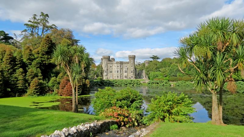 Johnstown Castle Wexford. View of Johnstown Castle and lake Wexford, Ireland royalty free stock photos
