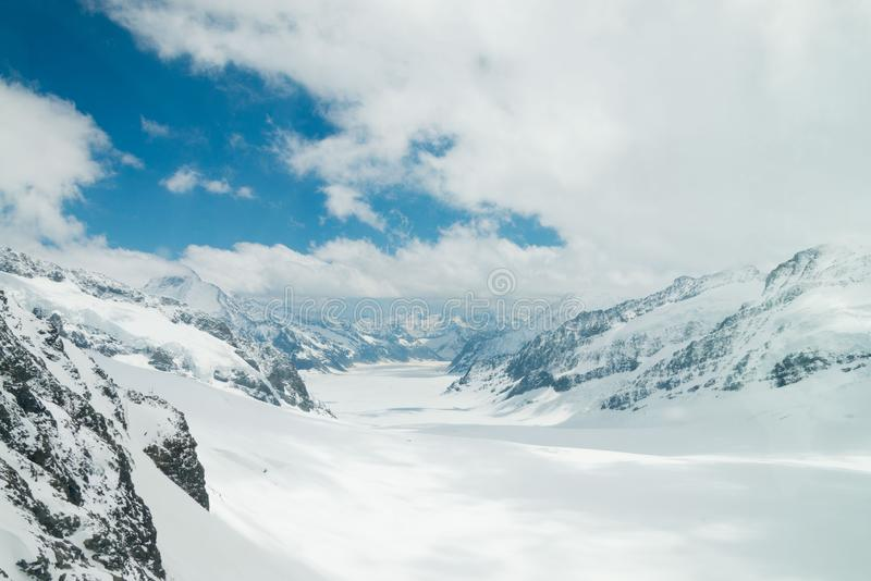View from Jungfraujoch in Switzerland royalty free stock photo