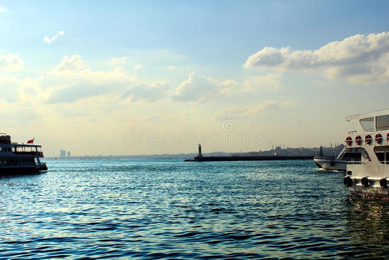 A view from kadikoy istanbul stock photo