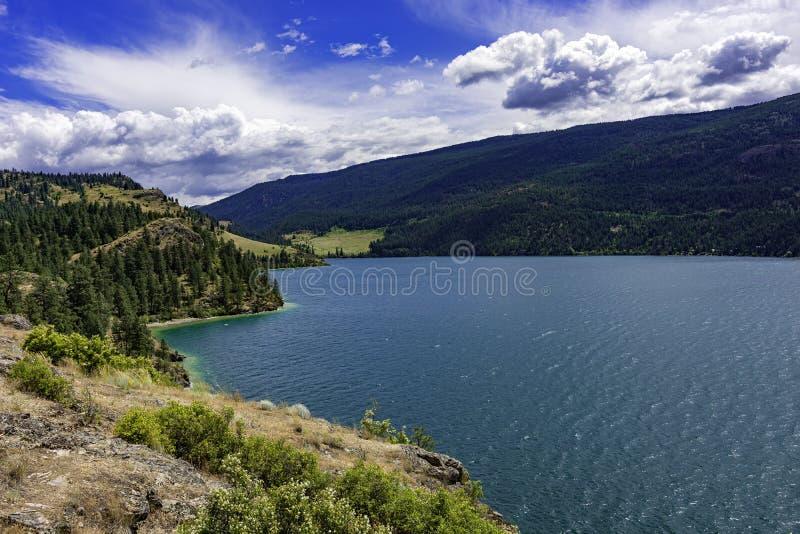 View of Kalamalka Lake from Kalamalka Lake Provinial Park near Vernon British Columbia Canada. On a summer day royalty free stock photography
