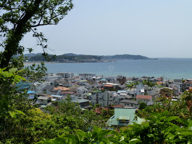 View of Kamakura and Sagami Bay, Kamakura, Japan royalty free stock images
