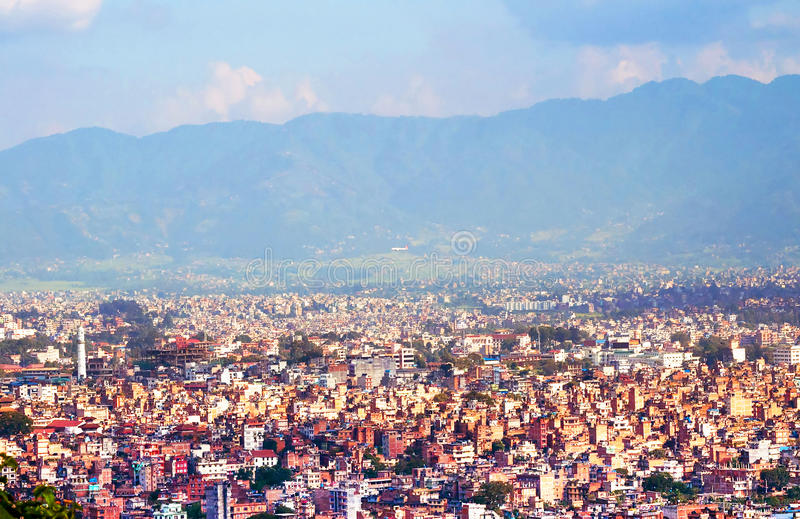 Download View of Kathmandu stock image. Image of himalaya, city - 25652531