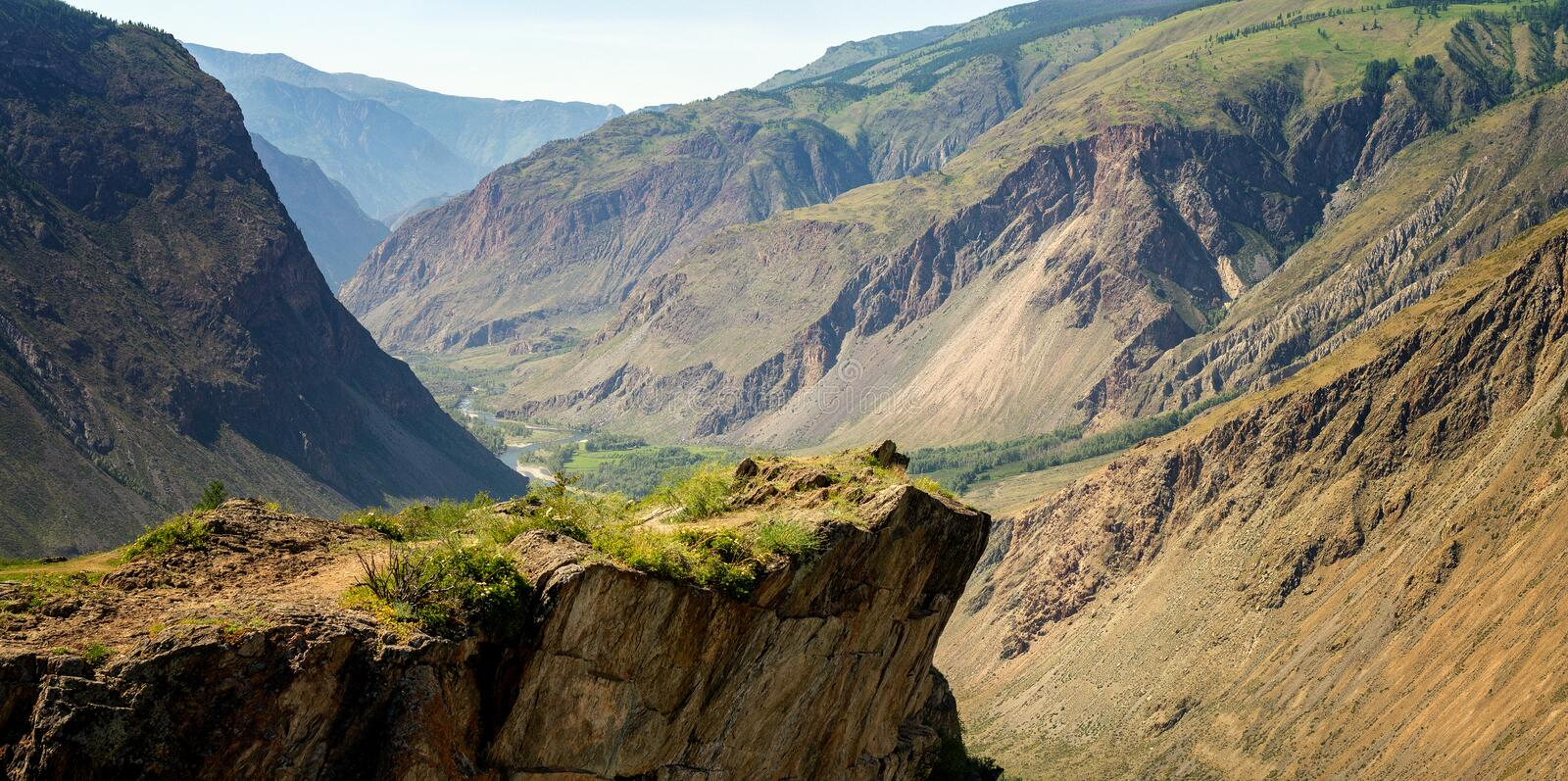 View of katu-Yaryk gorge, Gorny Altai, Russia royalty free stock photo