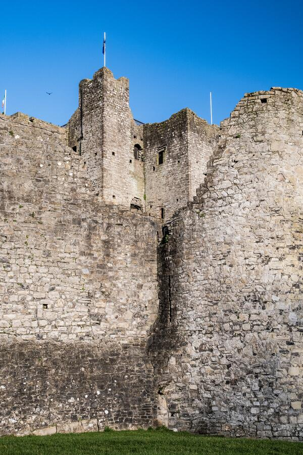 View of the Keep  Trim Castle stock images