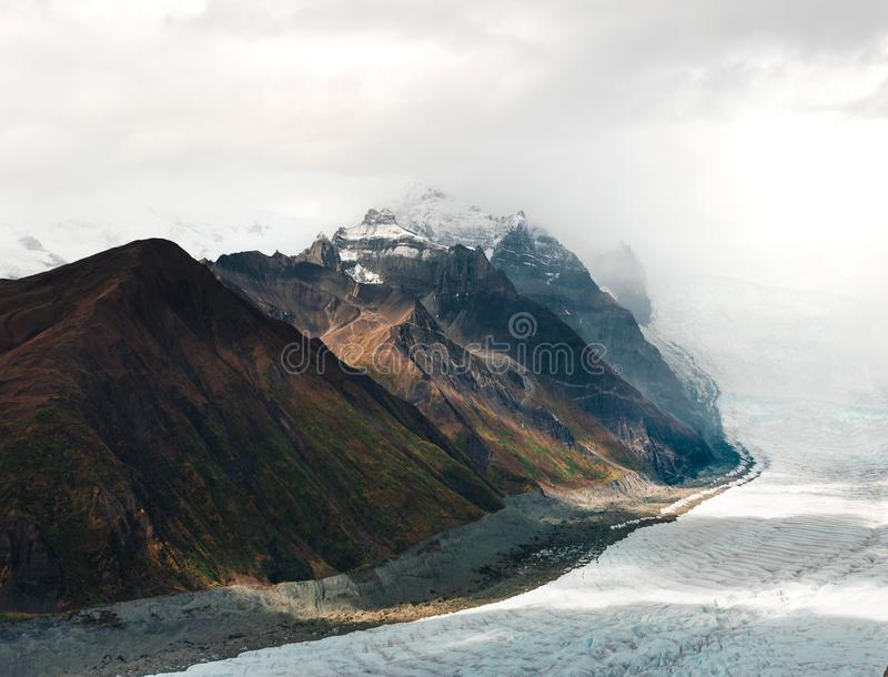 The view from Kennecott Mine in McCarthy Alaska stock images