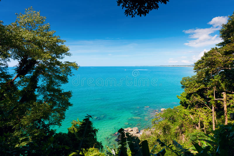 View from khao-lak stock photo