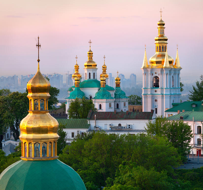 View of Kiev Pechersk Lavra royalty free stock image