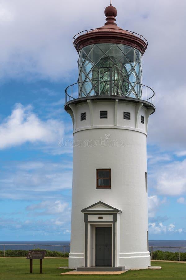 View of Kilauea Lighthouse, Kauai, Hawaii. Kilauea,Kauai,Hawaii,USA - June 10, 2014 : View of Kilauea Lighthouse in Kauai stock images