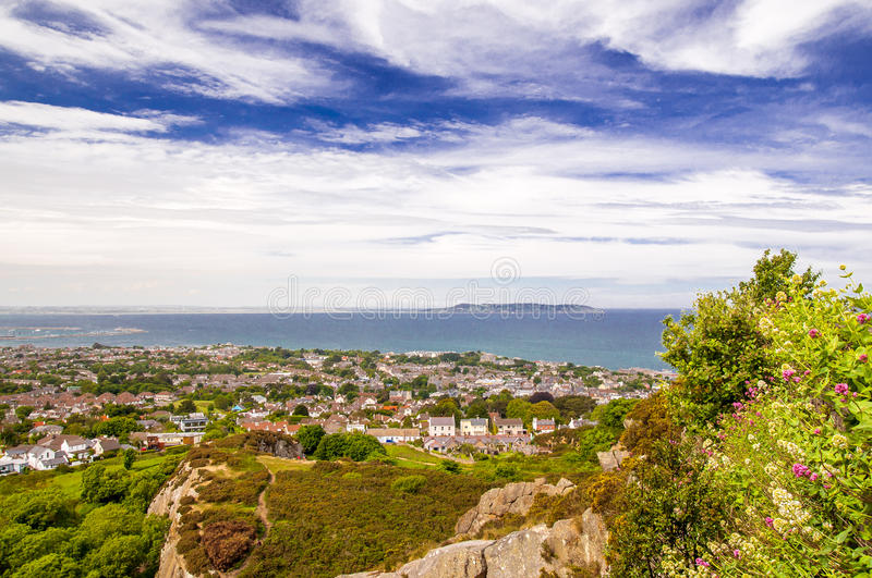 View from Kiliney Hill by Dublin stock photography