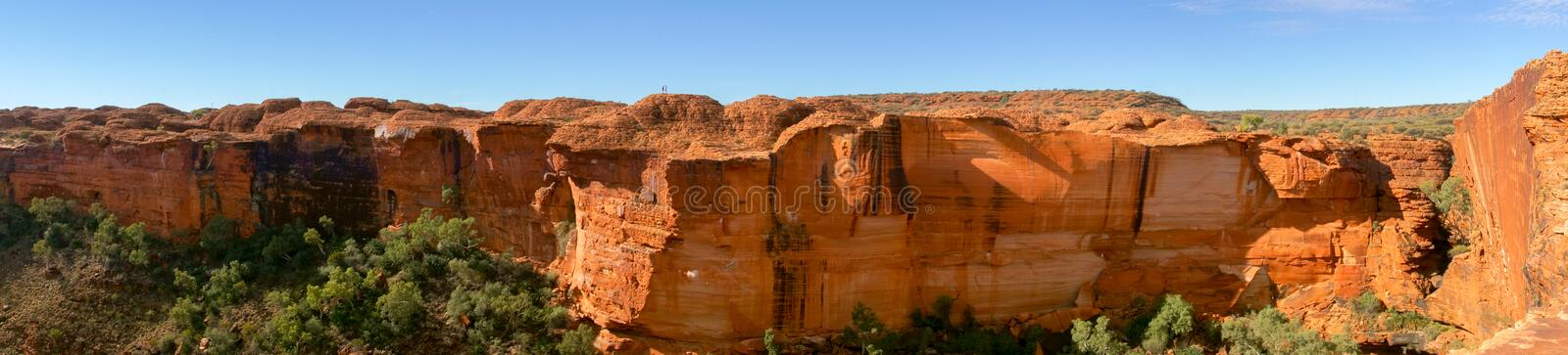 View of the Kings Canyon, Watarrka National Park, Northern Territory, Australia. View into the Kings Canyon, Watarrka National Park, Northern Territory australia royalty free stock photo