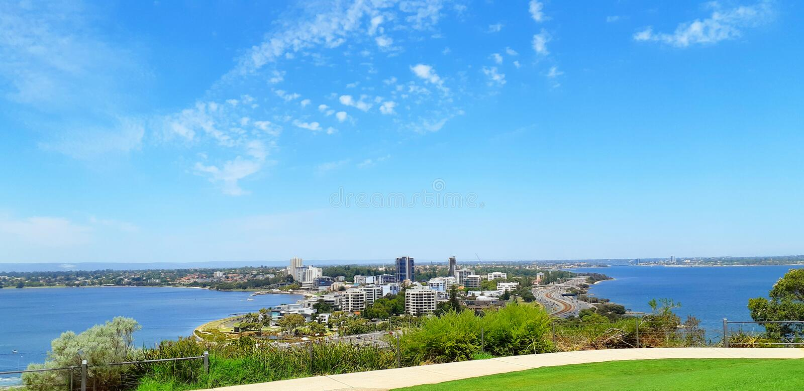 View in Kings park. Landscape, building stock image
