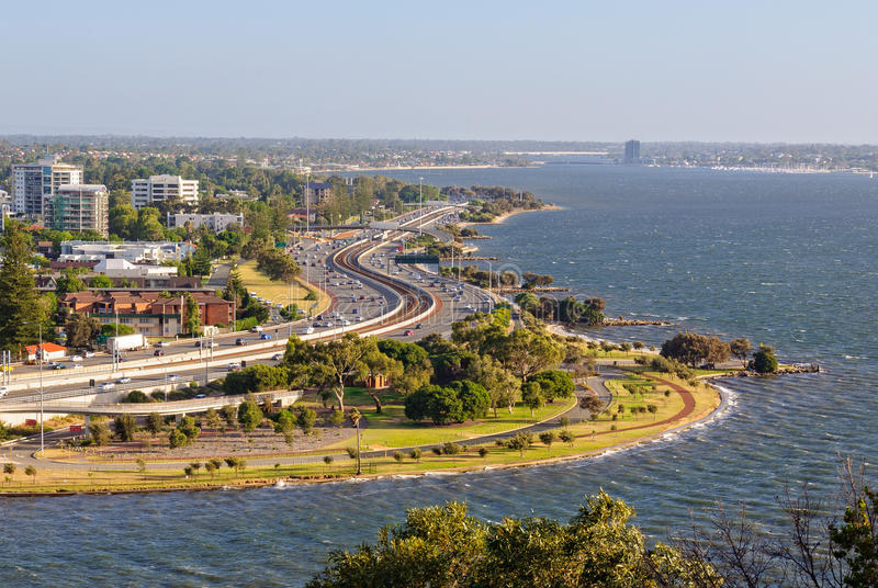 View from Kings Park - Perth royalty free stock image