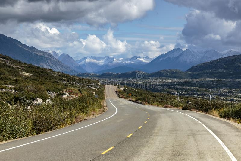 View of the the Klondike Highway in Yukon. View of the the Klondike Highway in Yukon Canada royalty free stock image