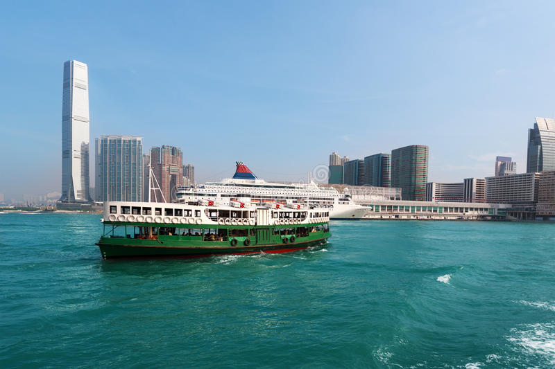 View of Kowloon Hong Kong. On a clear day royalty free stock photography