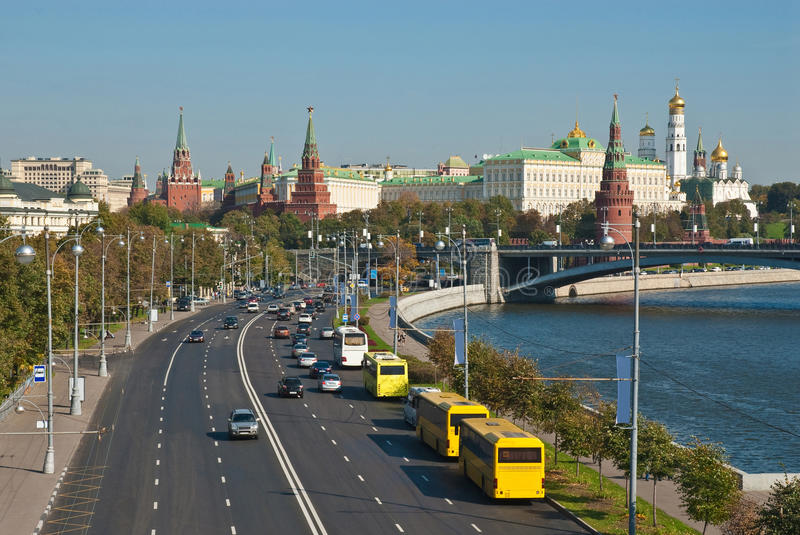 View of the Kremlin, Moscow stock image