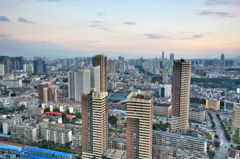 View of kunming city royalty free stock photography