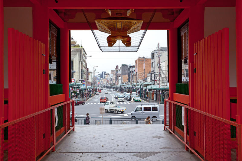 View Kyoto in yasaka shrine royalty free stock images