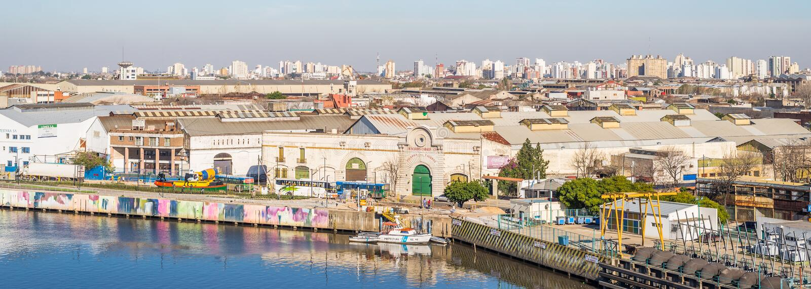 Buenos Aires, Argentina - July 18, 2017: View at La Boca neighborhood. View at La Boca neighborhood on a sunny day stock image