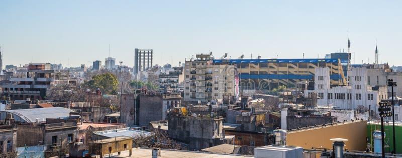 Buenos Aires, Argentina - July 18, 2017: View at La Boca neighborhood. View at La Boca neighborhood on a sunny day royalty free stock photos