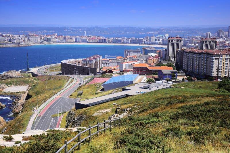 View of La Coruna, Spain royalty free stock photos