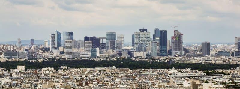View on La Defense district in Paris stock images