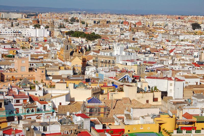 View from the La Giralda - Seville royalty free stock photo