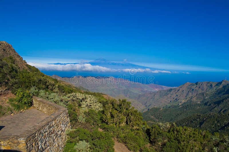 View from La Gomera stock images