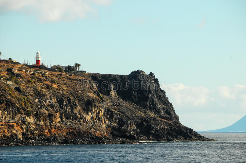 View of La Gomera. Canary Islands from the Ocean royalty free stock photo