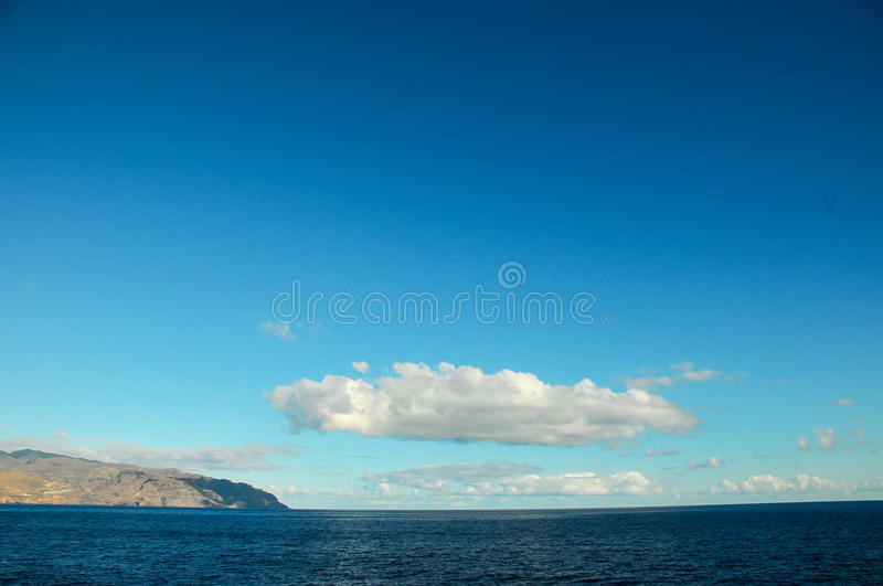 View of La Gomera. Canary Islands from the Ocean stock images